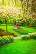 Leinwandbild Motiv Formal spring garden