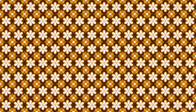 Brown Floral Pattern Seamless Background