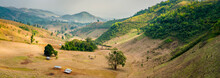 Scenic View Of Mountainous Landscape At Countryside Near Hsipaw, Myanmar