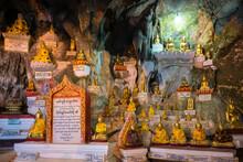 Buddha Statues Inside Pindaya Caves, Pindaya, Myanmar