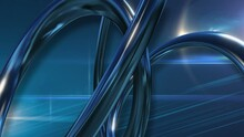 News Style Background - Rotating Coils And Lens Flares Blue Background