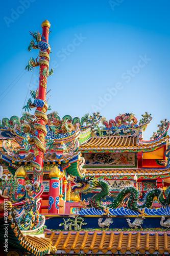 Munlanithi Prasatbun Sathan Shrine Is a Chinese shrine Ancient chinese art is th Fototapeta