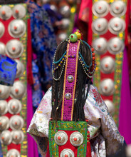 Shaman Festival At Siheji Temple, China Tibetan Plateau
