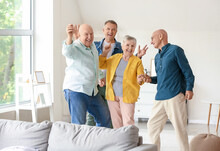 Senior People Having Fun At Home