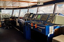 Control Room On Bridge Of Ship