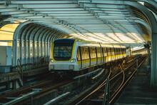 Train On The Railway Of Circular Line Of New Taipei City Metro, Taiwan