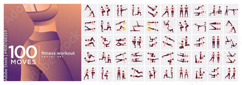 Fotografia, Obraz Women Workout Set