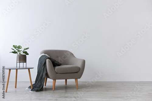 Obraz Cozy Scandinavian design for rest and relaxation at home - fototapety do salonu