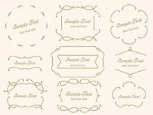 シンプルな飾り線のフレーム枠
