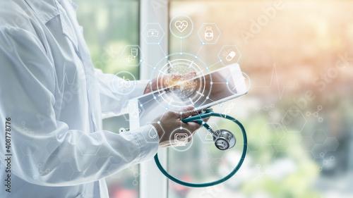 Fotografija Medical tech science, innovative iot global healthcare ai technology, World heal