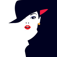Fashion Illustration Of Woman In Style Pop Art.