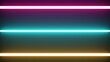 glowing neon lines abstract tech futuristic motion background. Seamless looping. Video animation Ultra HD 4K