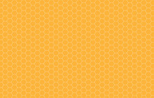Hexagon Beehive Honeycomb Yellow Pattern Seamless Background Vector Illustration.