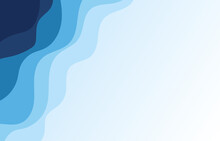 Blue Water Wave Sea Line Background Banner Vector Illustration.