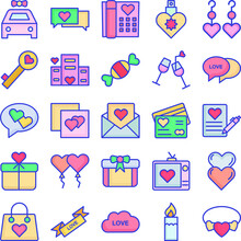 Love And Romance Pack Isolated Vector Icon That Can Be Easily Modified Or Edited