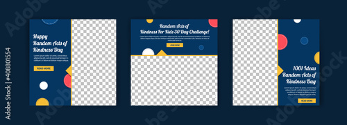 Canvas Print Social media post template for random acts of kindness day