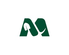 Combine Letter M And Mining Logo