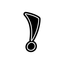 Exclamation Mark Font Decorative Hand Drawn Lettering, Vector. Handwritten Typographic Design. Cartoon Funny Bold For Logo, Poster, Postcard, Hand Drawn Design. Vector Punctuation Mark, Lettering.
