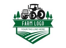 Farmer Tractor Vintage Logo