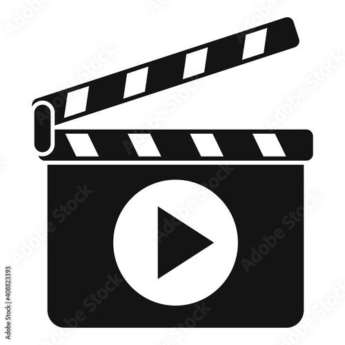 Camera clapper icon Fotobehang