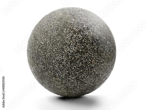Obraz Fine-grainde gravel sphere on white background - fototapety do salonu