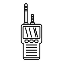 Investigator Walkie Talkie Icon. Outline Investigator Walkie Talkie Vector Icon For Web Design Isolated On White Background