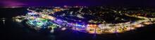 Night Lights Of Southend-on-Sea Amusement Park.