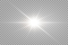 Vector Transparent Sunlight Special Lens Flare Light Effect. PNG. Vector Illustration