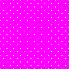 Seamless Vector Pattern With Polka Dots On Neon Pink Background