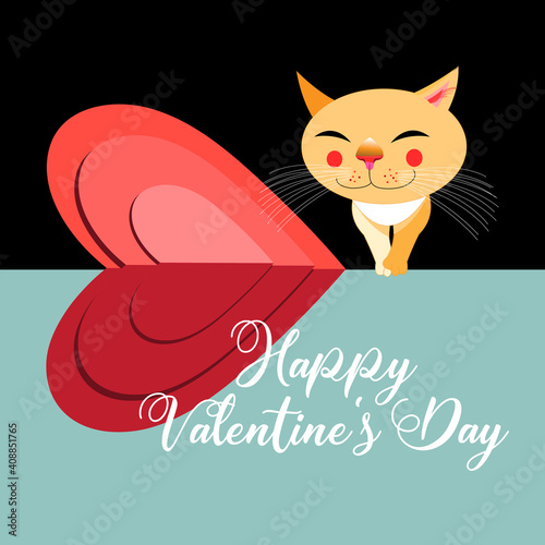 Cats in love for the holiday of all Lovers © tanor27