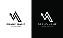 Abstract Business Arrow Up Logo Icon. Vector Design Template.