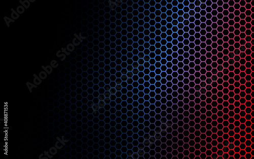 Fotografiet Abstract hexagon background , Technology polygonal concept.