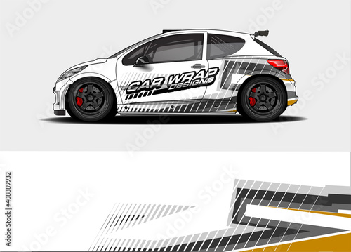 abstract background vector for racing car wrap design and vehicle livery Fototapeta