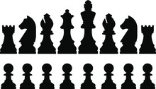 Chess Pieces Realistic Vector Graphics
