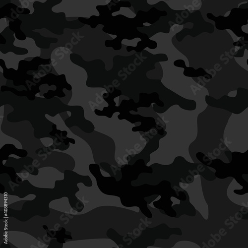 Cuadros en Lienzo dark Texture army camouflage seamless pattern