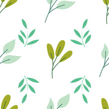 Floral Botanical Seamless Patterns. Vector Design For Paper, Cover, Wallpaper, Fabric, Textile, Interior Decor And Other Project.