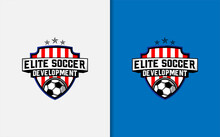Elite Soccer Academy Logo Design.