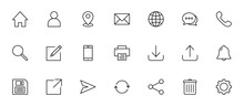Website Icon Set. For Computer, Web And Mobile Apps