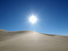 Blazing Sun At Dumont Dunes Near Death Valley In The Mojave Desert Area Of Southern California.
