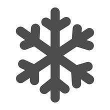 Snowflake Solid Icon, Winter Season Concept, Frozen Winter Flake Symbol On White Background, Snowflake Icon In Glyph Style For Mobile Concept And Web Design. Vector Graphics.