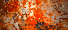 Abstract Fractal Colorful Orange Copper Beige Khaki Pumpkin Marbled Stone Wall Concete Cement Grunge Image Paint Background Bg Texture Wallpaper Art Frame Sample Illustration Board
