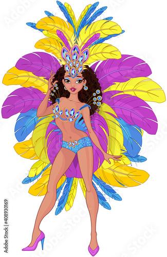 Cute Samba Dancer Girl #408930169