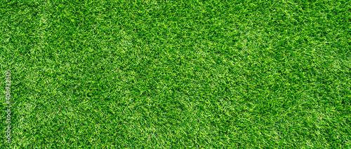 Cuadros en Lienzo Artificial grass field meadow green. Top View Texture.