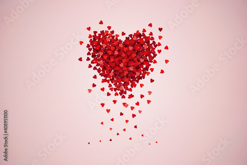Obraz Valentine's day concept with hearts isolated on background - fototapety do salonu