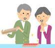 ふるさと納税 返礼品 喜ぶ老夫婦