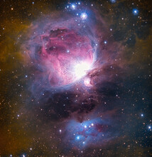 The Great Orion Nebula Region In The Constellation Orion.