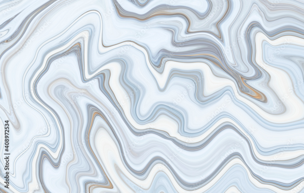 Fototapeta Marble rock texture blue ink pattern liquid swirl paint white dark that is Illustration background for do ceramic counter tile silver gray that is abstract waves skin wall luxurious art ideas concept.