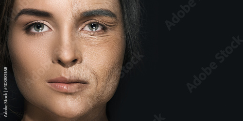 Obraz Aging concept. Young and old comparision. - fototapety do salonu