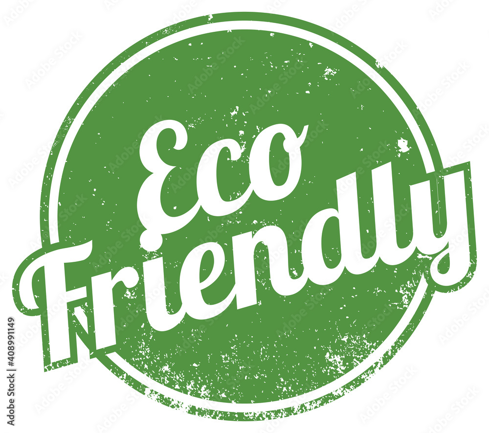 Fototapeta Eco Friendly. Vector Green Stamp.