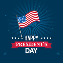 Flat Design Presidents Day Event Theme Vector Illustration.